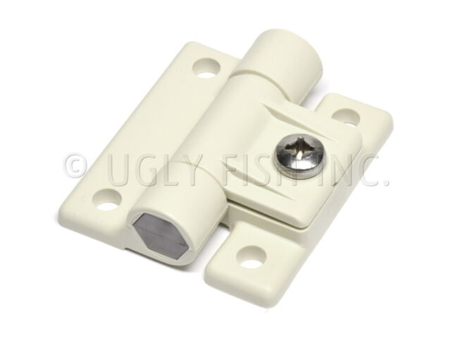 White Plastic OEM Southco E6-10-501-10 4 Hole Adjustable Torque Hinge Large