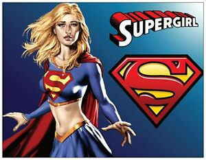 20 Supergirl Super Girl Birthday Party Invitations Flat Cards Env Ebay