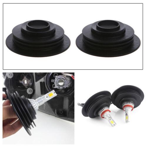 2pcs 3.2cm Universal Headlight Dust Cover Cap For LED HID Xenon Halogen Bulbs
