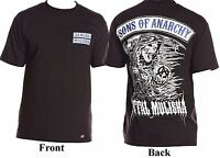 Men's Metal Mulisha Samcro Sons Of Anarchy Grim Reaper T-shirt Small - Medium
