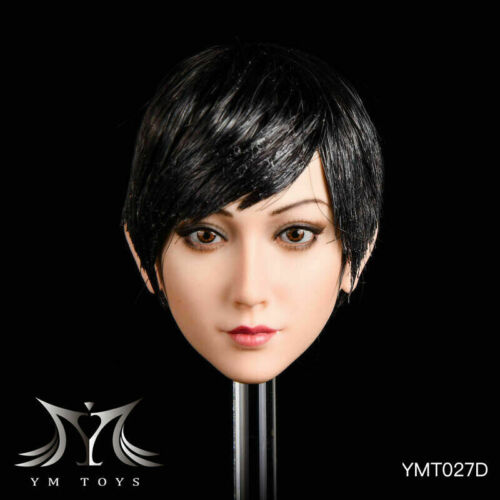 "1//6 YMT027 Female Head Sculpt PVC Carved Model F 12/"" PH//TBL  Action Body YMTOYS"