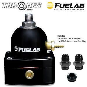 Fuelab-Carburettor-AN-6-Adjustable-Fuel-Pressure-Regulator-4-12-psi-Black-51504