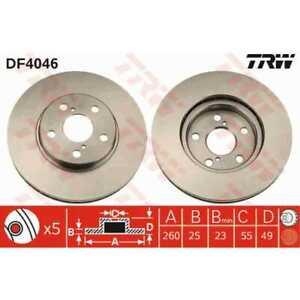 TRW-2x-Brake-Discs-Vented-Painted-Black-DF4046