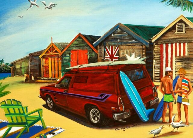 Blue Opal Deluxe Jenny Sanders Panel Van at the Beach 1000 piece Jigsaw Puzzle