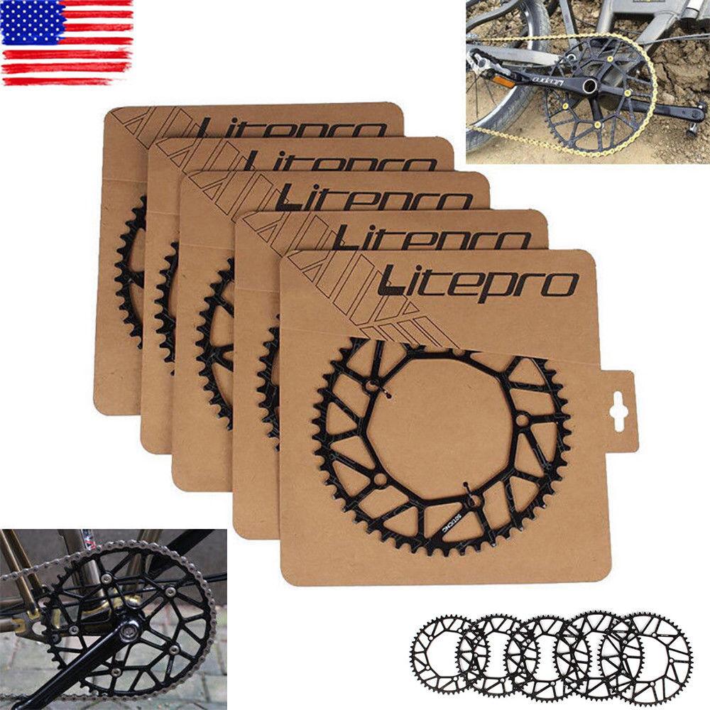 Litepro 130BCD Folding Road Bike Chainring +Bolts 50T 52T 54T 56T 58T Chainwheel