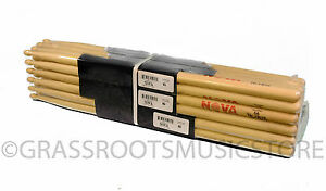 BRICK-12-Pair-VIC-FIRTH-Nova-5A-Wood-Tip-DRUM-STICKS-N5A-Hickory-Bulk-NEW