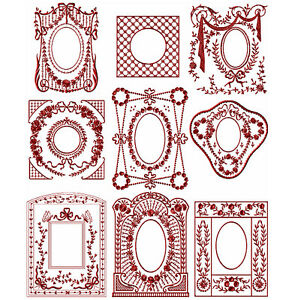 Details about ABC Designs 9 Victorian Frames Machine Embroidery Designs Set  5