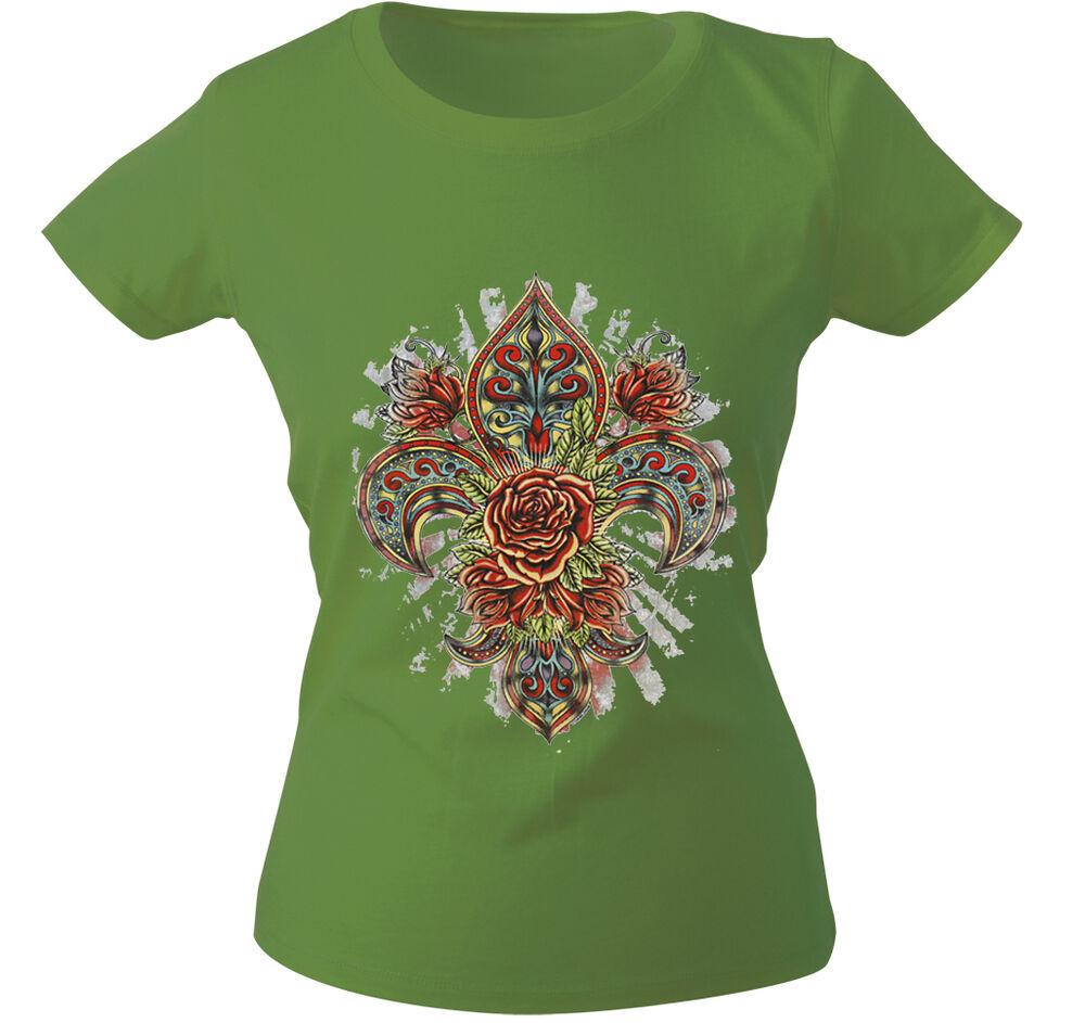(10892 Vert) Girly T-shirt S M L Xl Xxl Femmes Motif Shirts ○ Fantasy ○ Rose ○