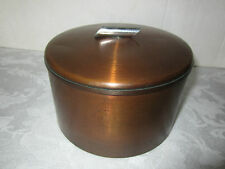 MCM copper humidor canister cork lined retro Eames era