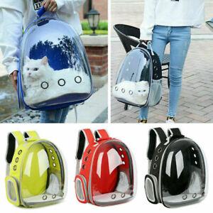 Pet Portable Carrier Backpack Space Capsule Travel Dog Cat Bag Transparent US