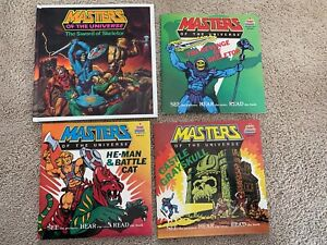 *Vtg MOTU Masters of Universe Sword Skeletor He Man Castle Book on Tape & Record