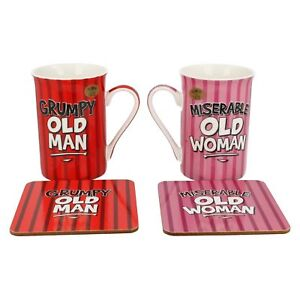 LP92726-Grumpy-Old-Man-amp-miserabile-Donna-Anziana-Mug-Da-The-Leonardo-Collection