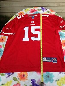 Details about Sewn Stitched #s Michael Crabtree #15 49ers NFL Reebok Red Jersey Men' Size 2x