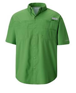 NEW-Columbia-Mens-PFG-Tamiami-II-Omni-Shade-Short-Sleeve-Fishing-Shirt-2XL