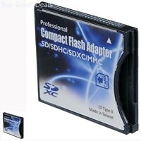 Sd/sdhc/mmc/eye-fi Card To Compact Flash Cf Type Ii Adapter For Professional Pc
