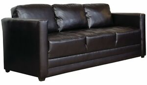 Details about Brown Leather Sofa Sofas Couch Couches Living Room Office  Furniture Lobby NEW