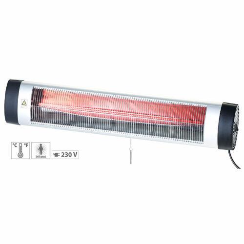 Semptec IR-Heizstrahler mit Thermostat IRW-3000.rbl 3.000 W IP24 rote Lampe