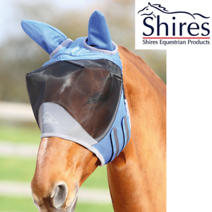 Royal Blue Shires Deluxe Fly Mask with Ears
