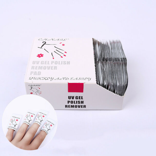 200 Pcs Gel Nail Polish Removers Removal Wraps Acetone Pads Foil Art Clea Prof