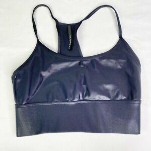 Koral Black Activewear Sweeper Racerback Sports Bra Women's Size Small S