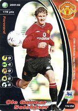 FOOTBALL CHAMPIONS 2001-02 Ole Gunnar Solskjaer 174/250 Liverpool F.C. FOIL