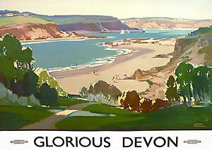 Glorious Devon  A3 Vintage British Rail Poster A4