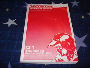 2003 HONDA TRX300EX Sportrax 300EX Owner/'s Owners Manual OEM