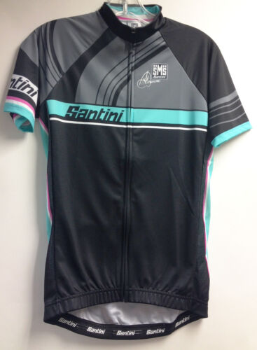 Black//Green by Santini. Women/'s Anna Meares Special Edition TDU Cycling Jersey