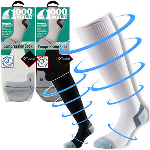 S 1000 Mile Compression Recovery Long Running Sports Socks Black