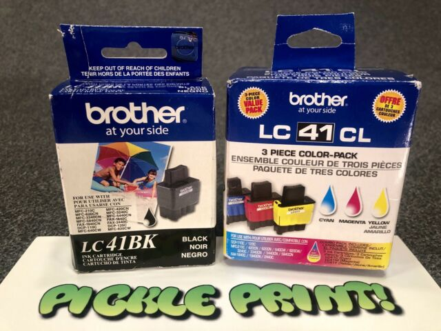Genuine Brother LC41 Color Ink 4-Pack  Black, Cyan, Magenta, Yellow