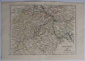 CARTE- ELECTORAT DE TRÈVES. ALLEMAGNE. Par Le Rouge. carte originale de (1748). 8gS4qQ2t-09152426-245716230