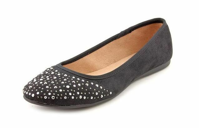 Style & Co Angelynn Faux Suede Flats Womens shoes Black 7.5M