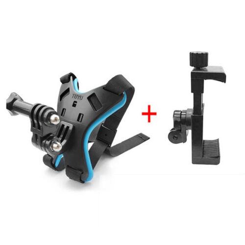 Adaptador de montaje casco barbilla Soporte Con Teléfono Soporte para GoPro Hero 8 7 6 5 Cámara