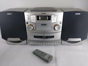8b18b2a3c70 Sony Boombox CFD-ZW755 CD Radio Cassette Detachable Speakers Mega ...