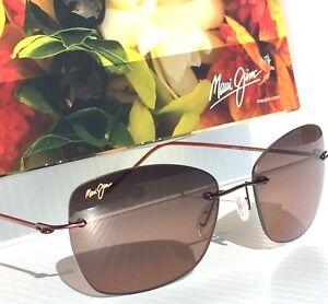fe288867d34 NEW* Maui Jim APAPANE Rimless w Rose POLARIZED Lens Women's Sunglass ...