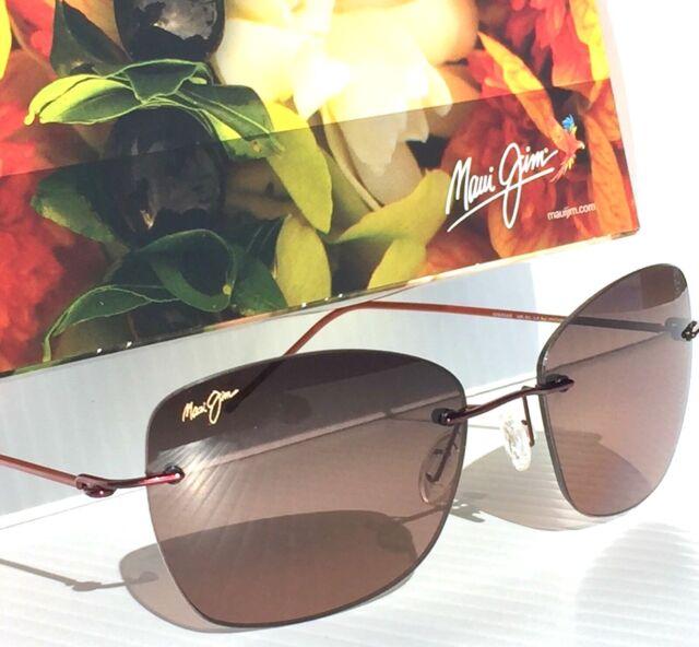 abbce6dd4bf NEW  Maui Jim APAPANE Rimless w Rose POLARIZED Lens Women s Sunglass RS717- 07