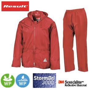 Resultado-para-Hombre-Rojo-Impermeable-a-prueba-de-viento-Peso-Pesado-Chaqueta-Pantalones-Lluvia