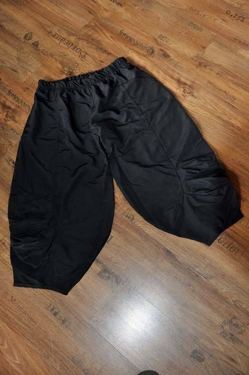 Lagenlook Jersey Falten-Ballon-Bollerhose black 44,46,48,50,52,XL,XXL,XXXL