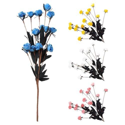 15 Heads Artificial Flowers Floral Bridal Wedding Party Bouquet Home Decor