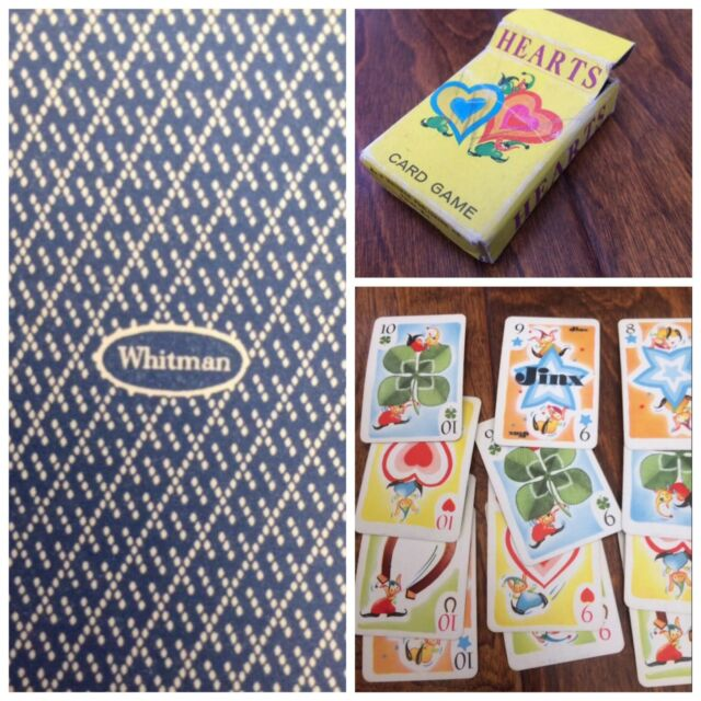 1960's Whitman Mini hearts Children's Card Game Vtg 44 cards # 1-11 Racine Wis