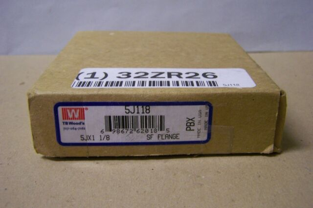 "1-1//8/"" Bore 5J118 T.B Wood/'s 5J Sleeve Coupling Flange"