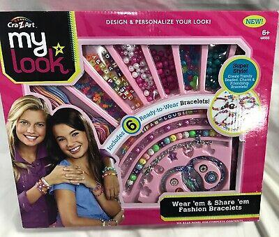 Cra Z Art My Look Wear Em Share Bracelet Maker Beaded Friendship Bracelets Kit 884920465558 Ebay