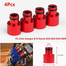 4 RDX Injector Hats For B//D//H Honda Civic Acura Integra D15 D16 B16 B18 Red