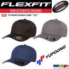 NEW Original FLEXFIT Baseball Fitted Hat Cap Black V-Flexfit Cotton Twill 5001