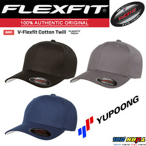 FLEXFIT-5001-Original-V-Flexfit-Cotton-Twill-Cap-Baseball-Fitted-Hat-Yupoong