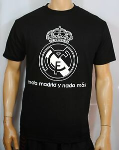 real madrid t shirt mens cristiano ronaldo hala madrid champions league top ebay. Black Bedroom Furniture Sets. Home Design Ideas