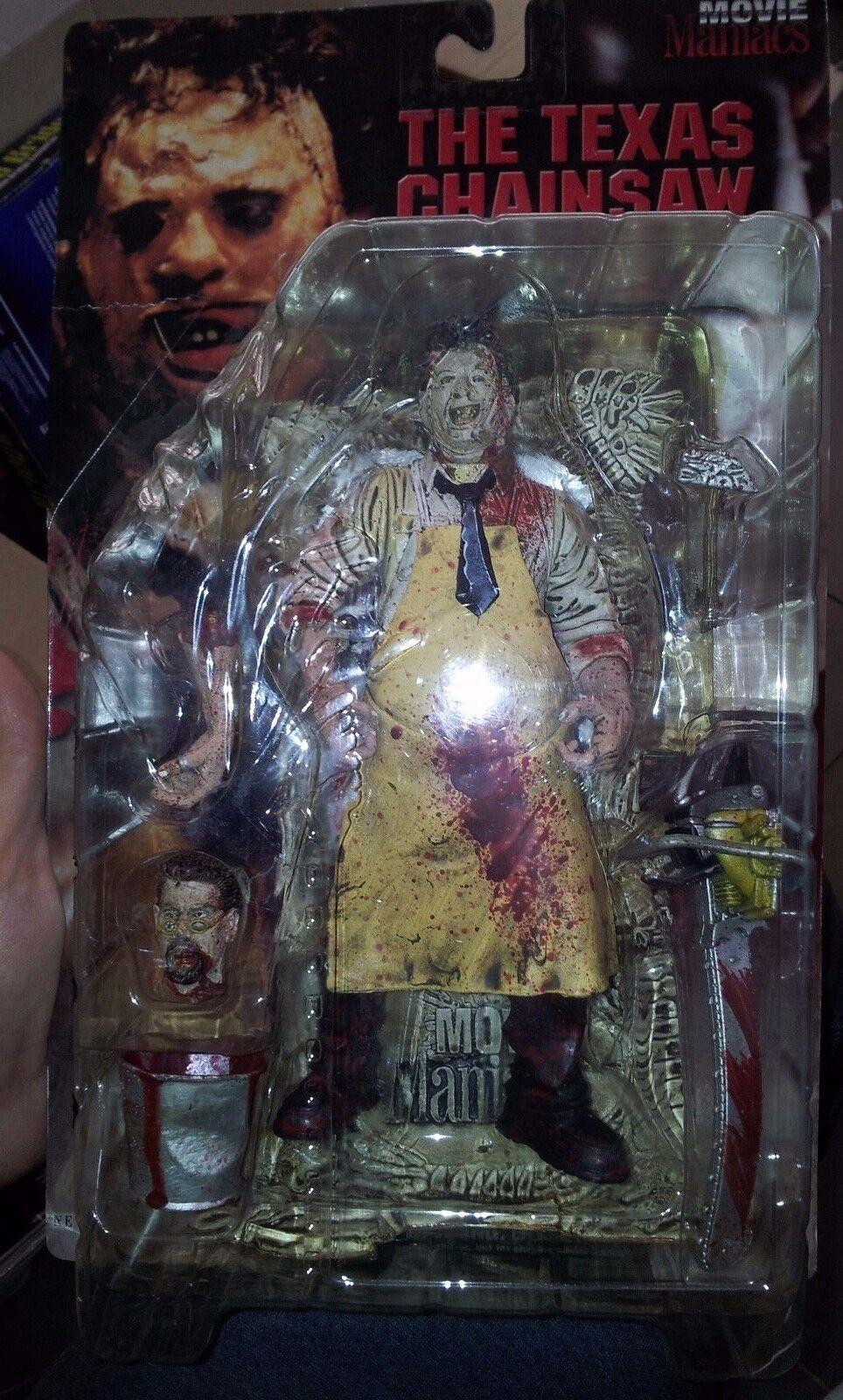 Film - fanatiker - texas chainsaw massacre leatherface figur, Blautigen variante, mip