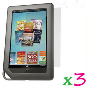 3-Clear-LCD-Screen-Protector-Film-Cover-Shield-Guard-Barnes-amp-Noble-Nook-Color