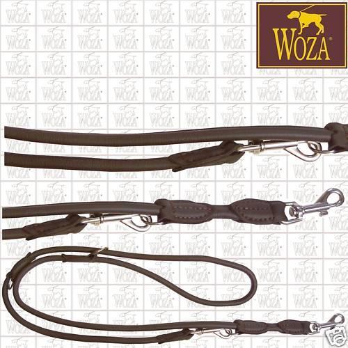 WOZA Premium Rundgenähte Hundeleine Lederleine Vollleder Soft Soft Soft Rindnappa SB1934  | Zuverlässige Leistung  b28cdb
