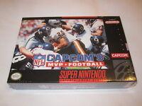 Capcom's Mvp Football (super Nintendo Snes) Brand New, Sealed